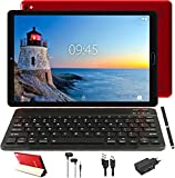 GOODTEL Tablet 10 Pulgadas Full HD Tablet Procesador Quad-Core, 3GB de RAM, 32GB de Memoria Interna, Escalable 64GB Doble Tarjeta SIM Doble HD Cámara 8000mAh Batería, Wi-Fi Bluetooth - Rojo