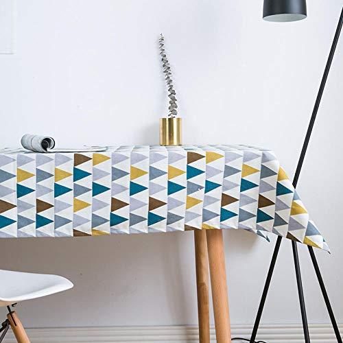 LVYONG Tela Pequeña Fresca Simple Arte Moderno Nórdico IKEA Mantel Mesa De Café Mesa De Comedor Lino Mesa Rectangular Mantel Estera-Triángulo Bunting_140 * 220 Cm