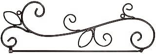 Carson Flag Wall Hanger w/Scrolls 60779 Black 5.25