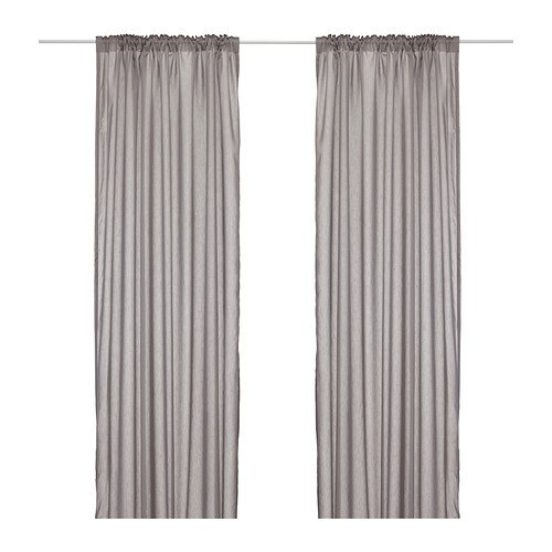 IKEA VIVAN - Curtains, 1 pair, grey - 145x300 cm