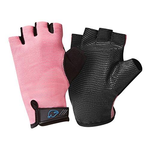 Blue Dove Yoga Simla Gel-gepolsterte rutschfeste Yoga-Handschuhe, Pink, niedrige Handgelenkschlaufe, Größe S