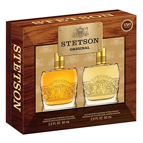 Stetson Original Decanter 2 Piece Gift Set Gift Set (2 Ounce Aftershave Plus 2 Ounce Cologne Pour)