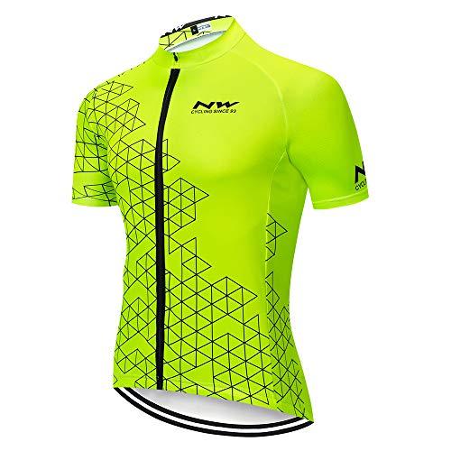 Ropa Ciclismo Hombre Manga Corta Camiseta de Ciclistas Hombre Maillot Ciclismo Verano