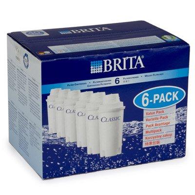 Unentbehrlich Brita Classic Wasserfilter Kartuschen 6Pack [e99445] (Neoteriker Design)