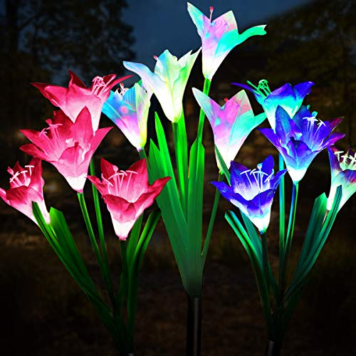 Lily Solar Garden Stake Lights 3 Pack $5.50 (50% OFF)