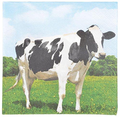 Esschert Design tp182 Vache Serviettes en Papier – Blanc