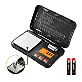 Digital Pocket Scales, 200g/ 0.01g Electronic Jewelry Scale with Calibration Weight Tweezer