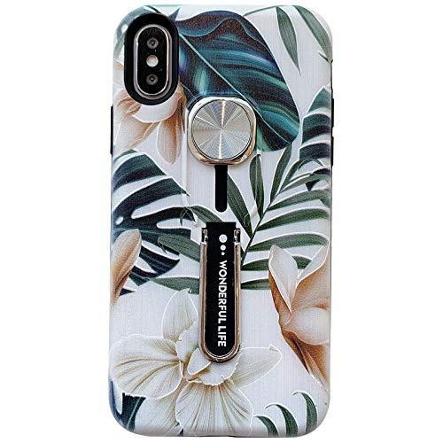 Hosgor - Funda para iPhone XR para mujer, diseño de flores en 3D, agarre resistente a los golpes, TPU suave + PC mate de doble capa...