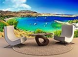 Wandteppiche Kunst der Insel Rhodos, Griechenland Wand Drucken Wandbild Tapetensticker Tapeten