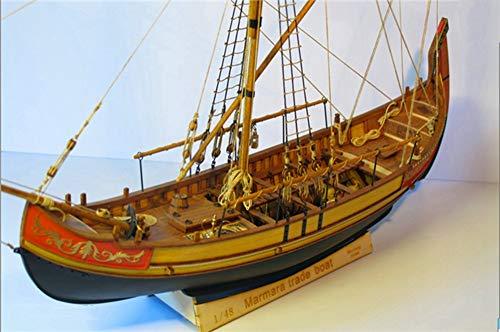 Marmara Trade Boat 17'' 1:48 Unassembly Wood Model Ship kit -Deluxe Supply Pack