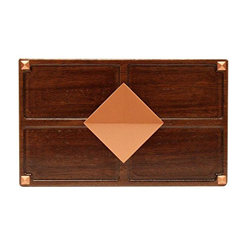 Hampton Bay Wireless or Wired Door Bell, Medium Red Oak Wood with Diamond Medallion