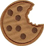 Chocolate Chip Cookie with a Bite Taken Out - Cut Out Embroidered Iron On or Sew On Patch