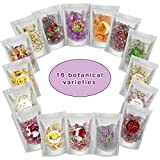 Dried Flowers and Herbs, MILAMI Dry Flowers for Resin Candle Soap Making - 16bags Dried Flowers Bulk Includes: Rose Petals for Lipgloss, Rose Buds, Lavender, Chamomile and More Dried Herbs and Flowers