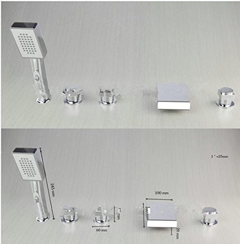 Gowe 5teilig 3Griff Chrom Oberflche montiert Badezimmer Bad Waschbecken Wasserhahn Vanity Einhebelmischer