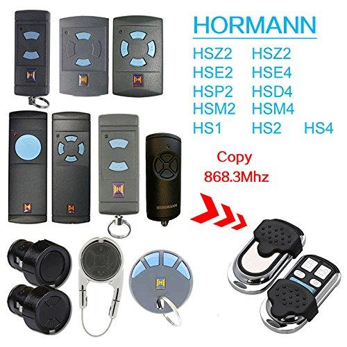 868 Mhz Hormann Hsm2 | Hsm4 | Hs1 | Hs2 | Hs4 | Hse2 | Hsz1 | Hsz2 | Hsp4 | Hsp4 868-c | Hsd2-A | Hsd2-c Garagentorantrieb Fernbedienung - 4 Kanal Kompatibel Handsender Ersatz