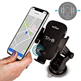 Veho TA-8 Universal in-car Smartphone Cradle/Holder with Qi Wireless Charging | Auto Sensing Open/Close Clasp System | windscreen Suction Cup & air Vent Fixing Mount(s) | Designed in UK | VAA-014-TA8
