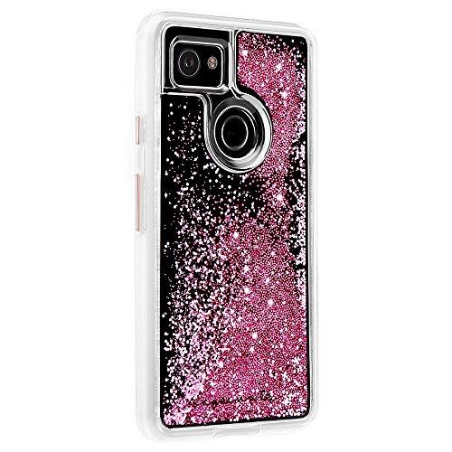 Case-Mate - Google Pixel 2 XL Case - Waterfall - Liquid Glitter Case - Protective Design for Pixel 2 XL - Rose Gold