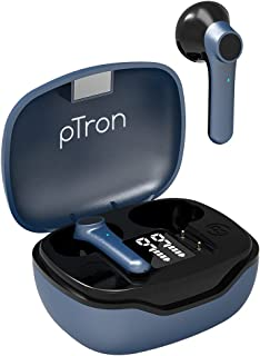 PTron Basspods 281 Truly Wireless Bluetooth in Ear Headphone with Mic (Black & Blue)