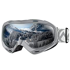 OTG (OVER-THE-GLASSES) DESIGN - Ski goggles that fits over glasses. Suitable for both ADULTS AND YOUTH. ANTI-FOG LENS & EXCELLENT OPTICAL CLARITY - Dual-layer lens technology with anti-fog coated inner lens gives you a FOG-FREE SKI EXPERIENCE. SAFE &...