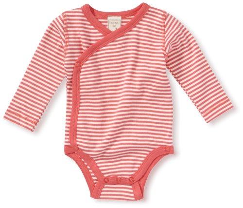 LANA natural wear - Grenouillère - Col ras du cou - Manches longues Mixte bébé - Rouge - Pink (peach/natur ) - FR : 18 mois (Brand size : 86/92)