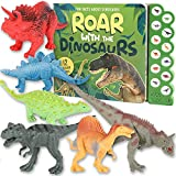 Dinosaur Toys for 3 Years Old & Up, Dinosaur Sound Book with 12 Realistic Looking Dinosaur Figures, Interactive Dinosaur Book and Toys Set for Kids 3 4 5 6 7 Years Old