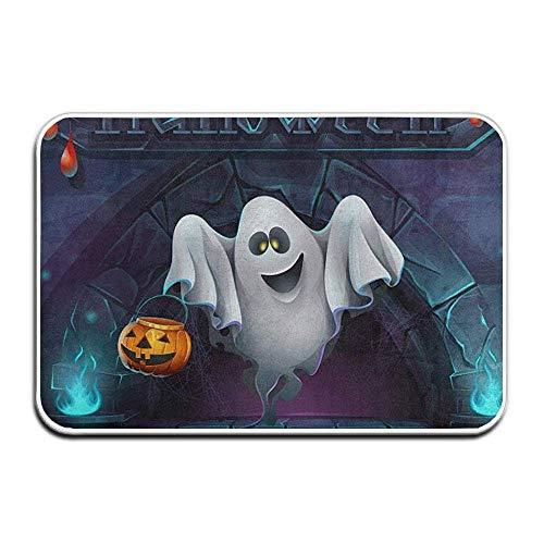 Lsjuee Doormats Indoor Entrance 23.6 x 15.7 Inches Happy Halloween Spooky Manor Floor Mats for Shoe Scraper Rug Outdoor Bathroom Carpet