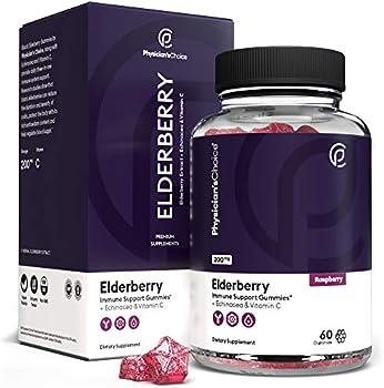 Physician's Choice Black Elderberry Extract Gummies 200 mg