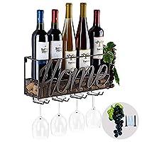 tinyuet portabottiglie per vino | scaffale per vino | scatola per vino da parete | porta bottiglie e vetro | decorazioni per la casa e la cucina | deposito di sughero | rack di stoccaggio -home