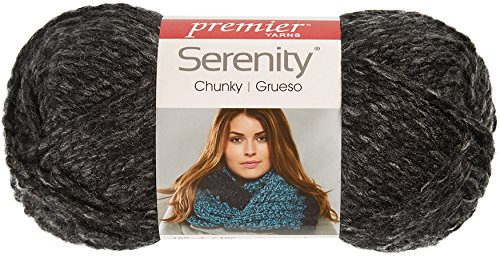 Premier Yarns Serenity Chunky Heathers Yarn-Charcoal, 3 Pack