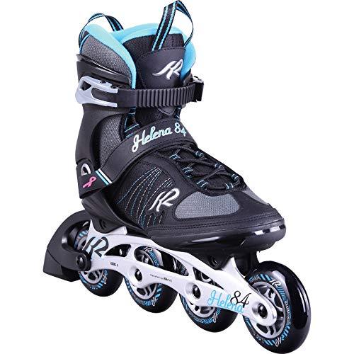 K2 Inline Skates HELENA 84 Für Damen Mit K2 Softboot, Black - Blue, 30D0372