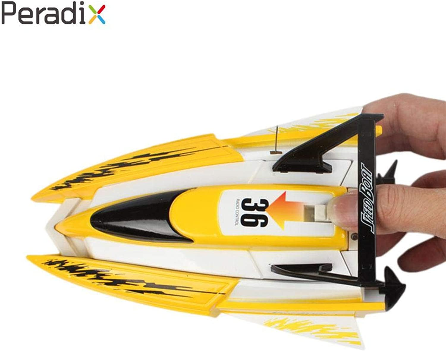 Generic Boat Toys Racing Boat Rc Boat Boys RC Toys Yellow Xmas Gifts Funny 4CH Plastic Eletronic Mini Water Ship