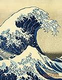 La Gran Ola de Kanagawa Planificador Mensual 2021: Katsushika Hokusai | Agenda Diaria | Con Calendario Mensual 2021 (Enero a Diciembre) | Treinta y Seis Vistas del Monte Fuji, Japón