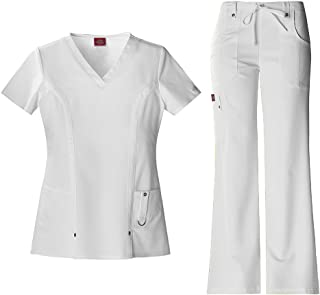 Xtreme Stretch Women's V-Neck Top 82851 & Drawstring Pant 82011 Scrub Set