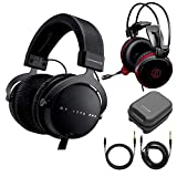 Beyerdynamic DT 1770 Pro Closed-Back Studio Reference Headphones 250 Ohm Bundle with ATH-AG1x Gaming Headset and Cleaning Kit