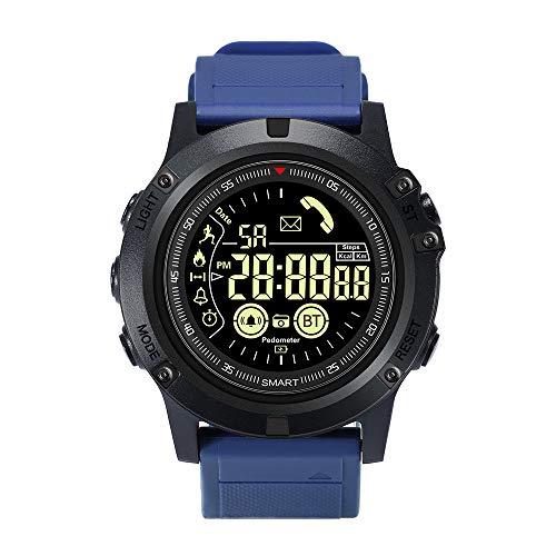 Smartwatch, Fitness Tracker Armbanduhr Sportuhr Smart Watch für Damen Herren mit 5 ATM Wasserdicht Kompatibel mit iOS Android,Blau