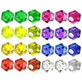 JACK CHLOE Geometric 24 PCS Office Magnets and Kitchen Magnets, 8 Assorted Color Refrigerator Magnets for Home Classroom Decorative Locker Magnets, Mini Magnets for Whiteboard and Dry Erase Board
