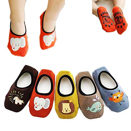 4 paia di calzini antiscivolo per bambini e bambine XM-Amigo per interni