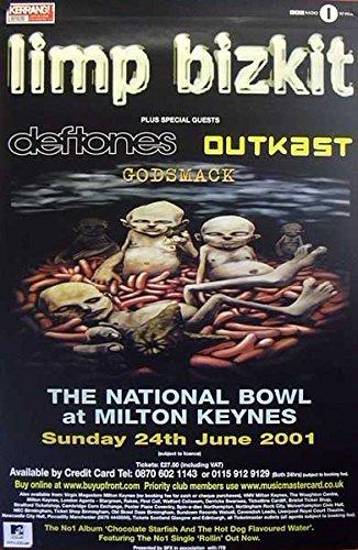 Limp Bizkit: 24.06.2001, National Bowl at Milton Keynes | original UK Promo Poster Übergrösse XL