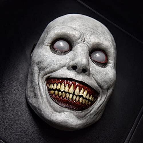 KYZRUIER Halloween Masken Horror Gruselige Halloween Maske-Lächelnder Dämon, Gruseliger Clown Cosplay Halloween Dämon LED Maske.