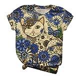 ELECTRI - t-Shirt - t-Shirt - Chemise - 3D - Manches Courtes - Homme - Femme - Unisexe - drôle - idée Cadeau - Cosplay - Chats - Chatons - Chatons - Bonbons