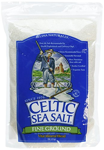 CELTIC SEA SALT FNE GROUND POUC, 1 LB (Pack of 3)