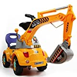 POCO DIVO Digger Scooter, Ride-on Excavator, Pulling cart, Pretend Play Construction Truck (Color...