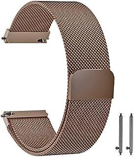 أوستيك / سوار / حزام معدني ميلانو للساعات الذكية متوافق مع سامسونج جالاكسي 46 ملم / هواوي جي تي 2 / جير اس 3 فرونتير وكلاس...