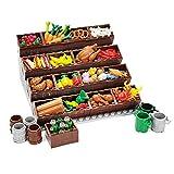 WWEI Juego de frutas Custom Essen con vitrina, juguete creativo de construcción compatible con Lego