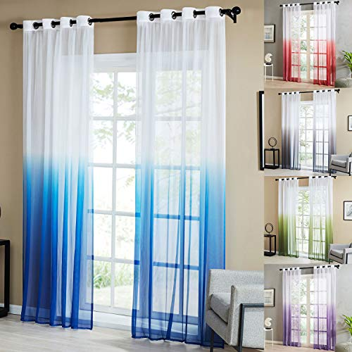cortinas cocina tonos verdes