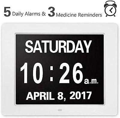 Day Clock Dementia Clock - Portuguese: Amazon.es: Hogar