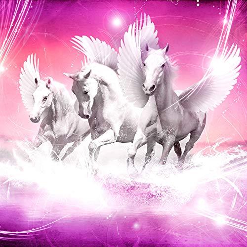 Consalnet Tapete Pegasus Hintergrund 589VEXL, 208 x 146 cm, 2 Streifen, Vlies, einfach anzubringen, Papier, 130 g/m², Rosa / Violett, 208 x 146 cm