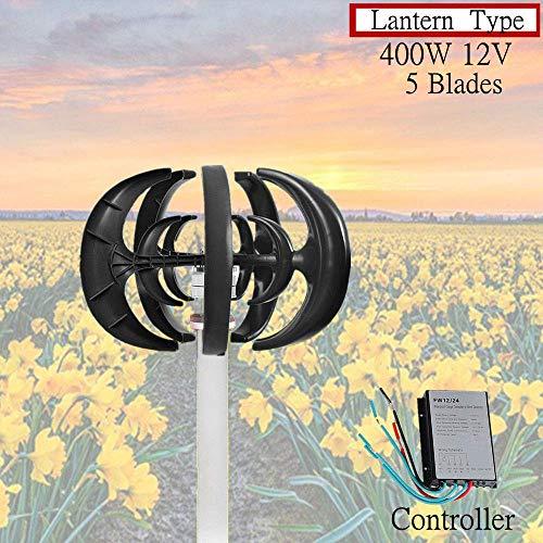Haosan Windturbine 12V, 400W Garten Wind Turbine Wind Turbine Generator Vertikal Windgenerator