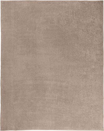 Erwin Müller Frottierdecke, Sommerdecke, Picknickdecke, Wohndecke 100prozent Baumwolle Cappuccino Größe 150x200 cm - weiche Qualität, saugfähig, atmungsaktiv, temperaturausgleichend - (weitere Farben)