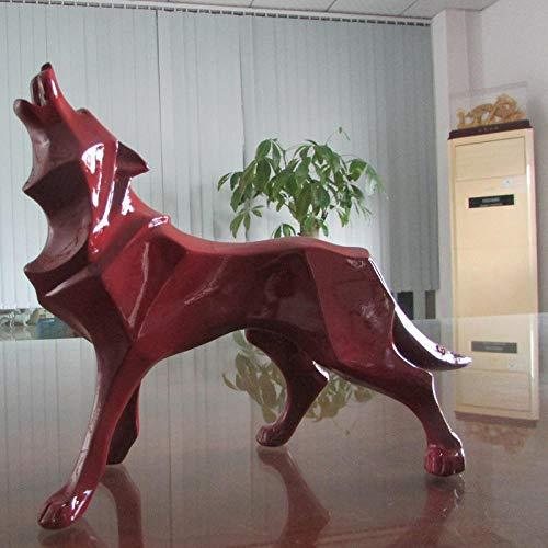 ZAQWSXCDE Skulptur Figur Tier Skulptur Dekofigur Wolf Statue Abstrakte Tier Totem Skulptur Harz Handwerk Home Desktop Dekoration Geschenk